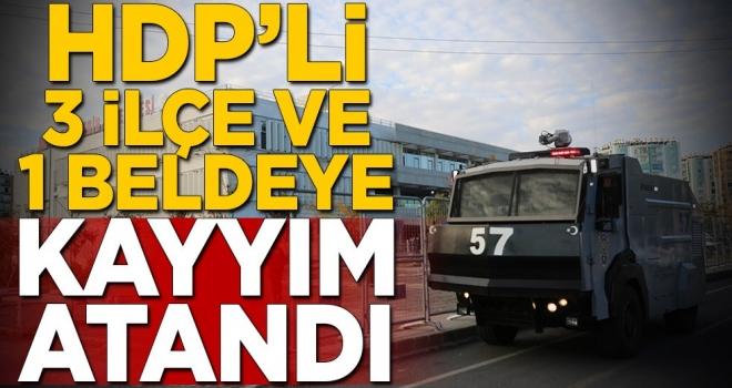 HDP'li 3 ilçe ve bir beldeye kayyım atandı