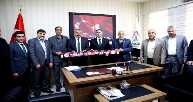 Karaköprü Belediyespor Yönetiminden AK Başkanlara ziyaret