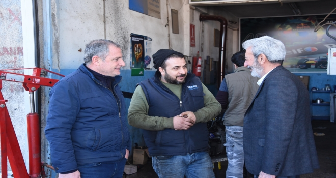 Belediye Başkanı Şeyhmus Aydın Esnafları ziyaret etti.