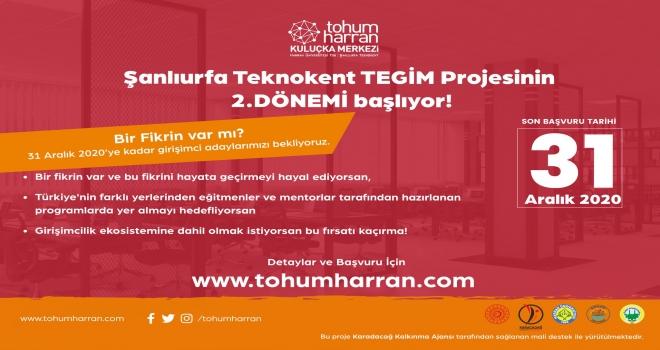 TEGİM-Tohum Harran Projesi Son Başvuru  31 Aralık