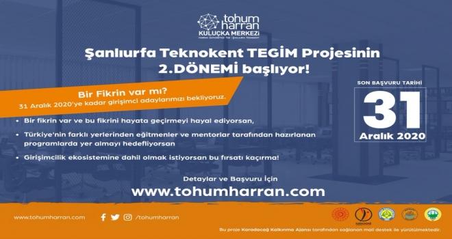 Şanlıurfa Tekno Girişimcilik ve İnovasyon Merkezi (TEGİM-Tohum Harran) Projesi Başladı.