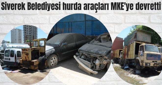 Hurda araçlar MKE'ye devredildi