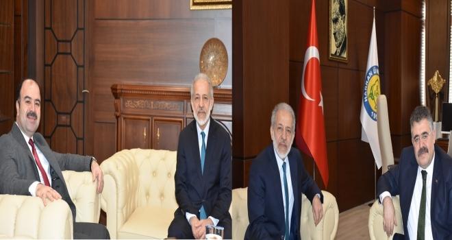 Başkan Çiftçi ve Emniyet Müdürü Tipioğlu'ndan Rektör Çelik'e Ziyaret