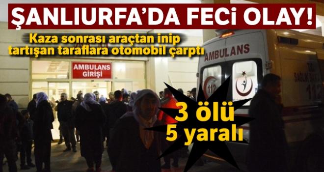 Siverek'te feci kaza: 3 ölü, 5 yaralı