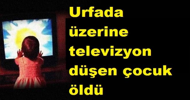 Urfa'da Üzerine televizyon düşen çocuk öldü
