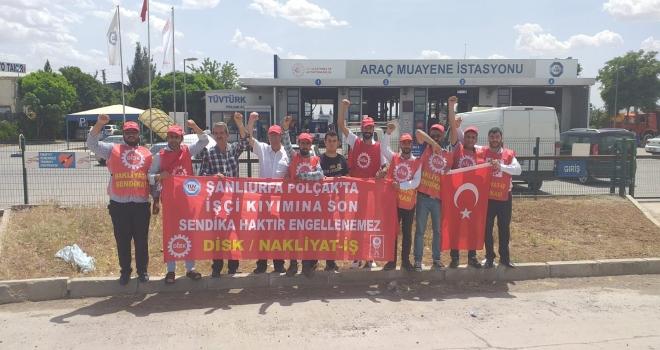 HKP, 185 gündür direnen Şanlıurfa Tüvtürk/Polçak işçilerini ziyaret etti!