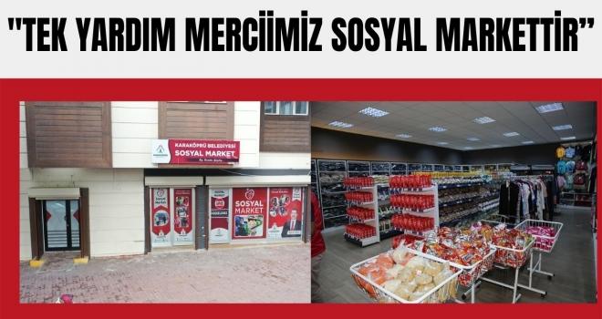"""BAŞKAN BAYDİLLİ: """"TEK YARDIM MERCİİMİZ SOSYAL MARKETTİR"""""""