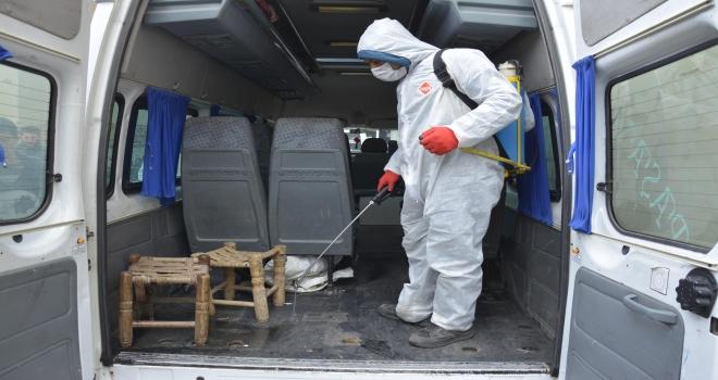 Siverek'te Lokanta Ve Toplu Taşıma Araçlarında dezenfekte çalışmaları devam ediyor