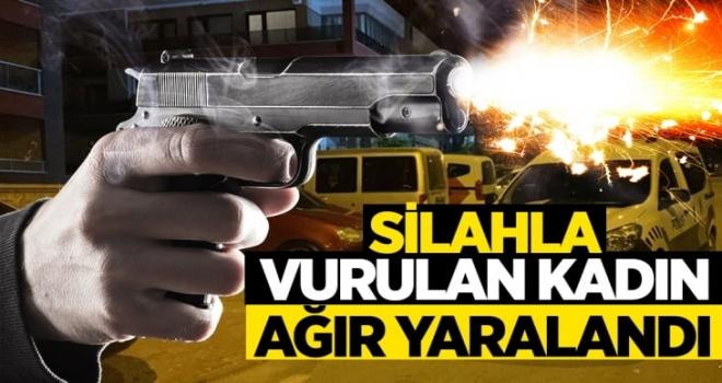 Silahla vurulan genç kadın ağır yaralandı