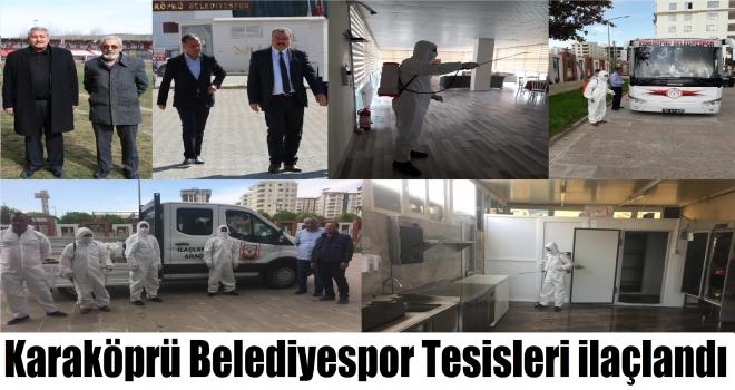 Karaköprü Belediyespor Tesisleri ilaçlandı