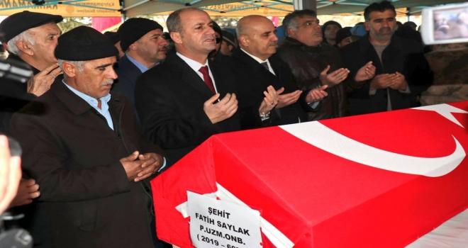 Başkan Yavuz Kahramanmaraş'ta  Şehit Cenazesine Katıldı