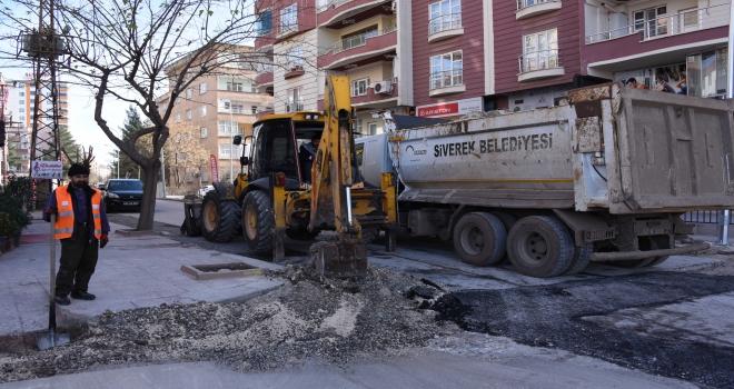 Ofis mahallesinde sıcak asfalt çalışmaları başladı
