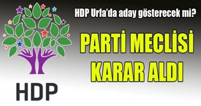 HDP Urfa Büyükşehir'e aday göstermeyecek