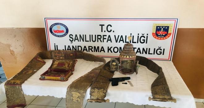 Şanlıurfa İl Jandarma Komutanlığı Ekipleri Tarihi Eser Kaçakçılarına Göz Açtırmıyor