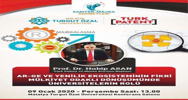 Türk Patent Kurumu Başkanı Prof. Dr. Asan MTÜ'de konferans verecek