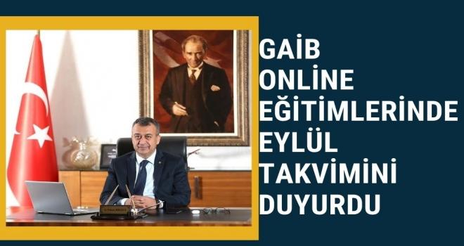 GAİB Online Eğitimlerinde Eylül Takvimini Duyurdu
