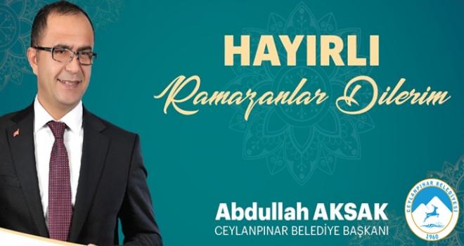 Başkan Aksak'tan Ramazan Ayı Mesajı