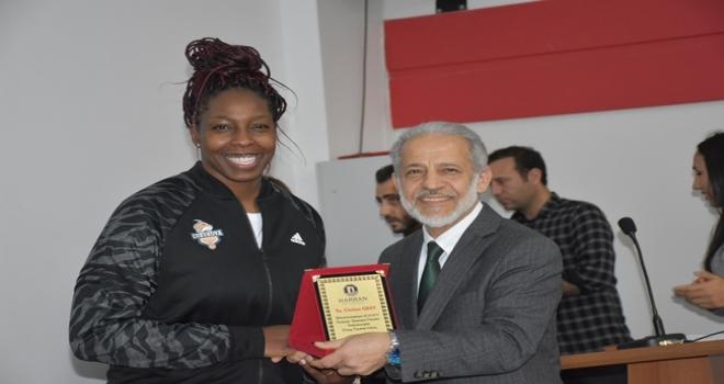 Çukurova Basketbol Takımı Oyuncuları Harran Üniversitesinde Söyleşiye Katıldı