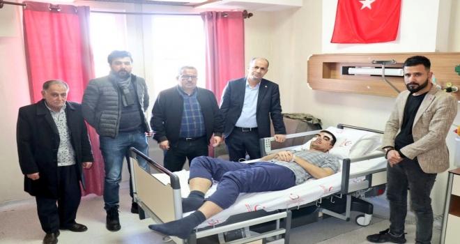 Başkan Yavuz, Yaralı Askerleri Ziyaret etti