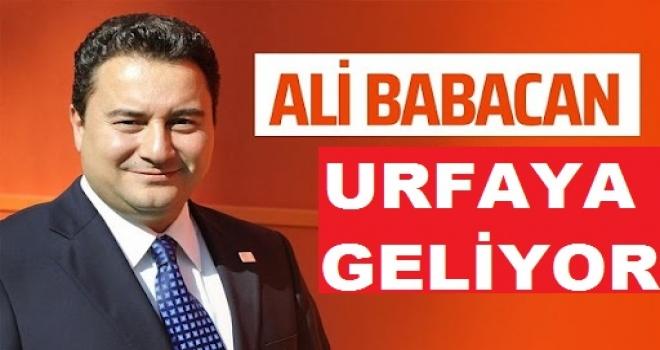 Babacan olağan kongre için Urfa'ya geliyor