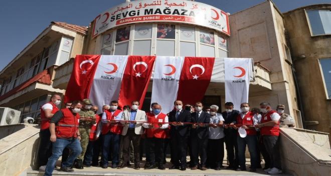 Kızılay, Suriye'deki Sekizinci Mağazasını Resulayn'da Açtı