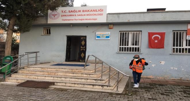 Ceylanpınar'da tüm resmi kurumlar ilaçlandı