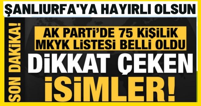 AK Parti MKYK Listesi Açıklandı