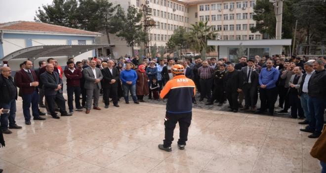 İl Milli Eğitim Müdürlüğümüzde  Deprem ve Yangın Tatbikatı