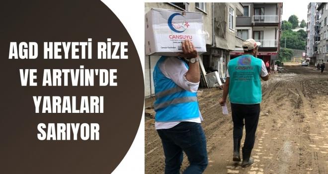 AGD HEYETİ RİZE VE ARTVİN'DE YARALARI SARIYOR
