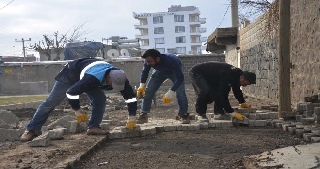 Merkez mahallelerde üst yapı iyileştirme çalışmaları sürüyor