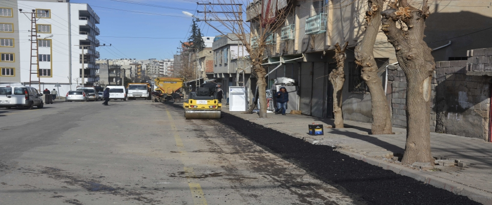 Siverek'te Esmer Mahallesinde cadde ve sokaklarda onarım çalışmalar başladı