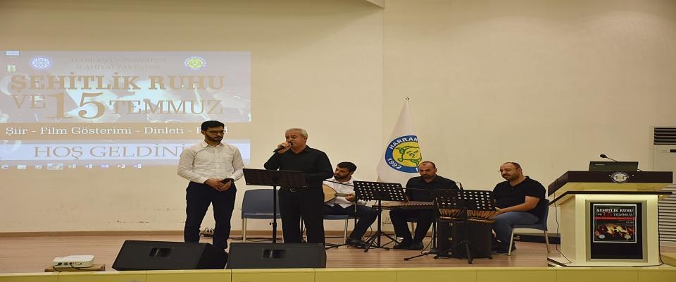 HRÜ'de 15 Temmuz, Şiir, Film Gösterimi, Dinleti ve Panelle Anıldı