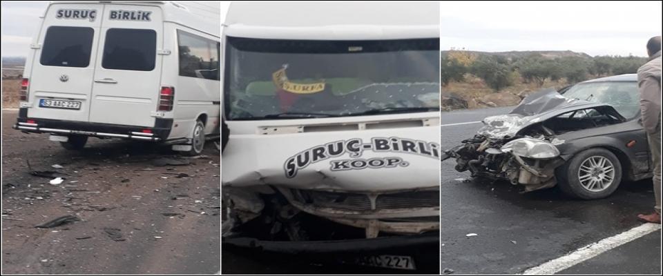 Suruç'ta Yolcu Minibüsü Kaza Yaptı:6 Yaralı