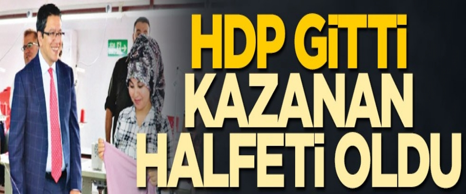 HDP gitti kazanan Halfeti oldu