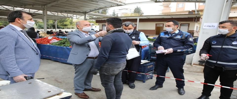 HALİLİYE'DE SEMT PAZARLARI SALGINA KARŞI KONTROL ALTINDA