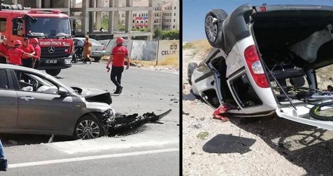 Maşuk Seyrantepe'de 2 araç çarpıştı