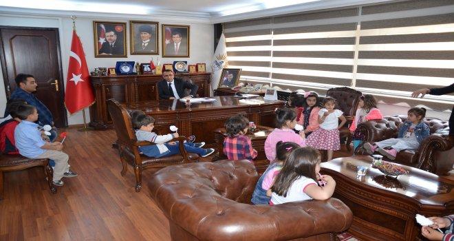 Miniklerden Belediye Başkanı Resul Yılmaz'a Ziyaret