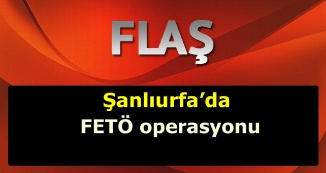 Şanlıurfa'da Fetö Operasyonu düzenlendi.