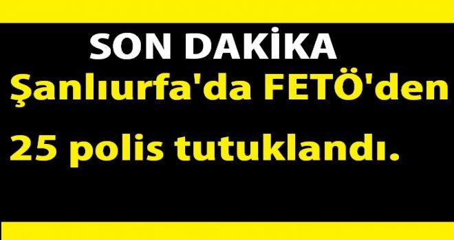 Şanlıurfa'da FETÖ'den 25 polis tutuklandı