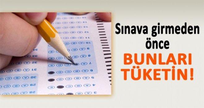 Sınavdan önce bunları tüketirseniz...